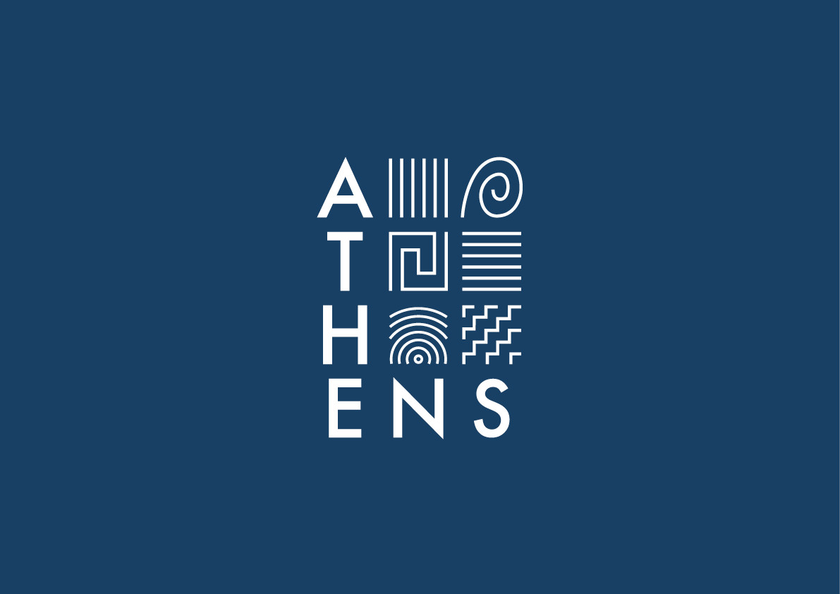 Logo concept for the city of Athens in Greece.