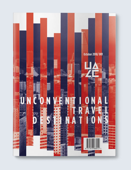 Magazine cover for Unconventional Travel Destinations.