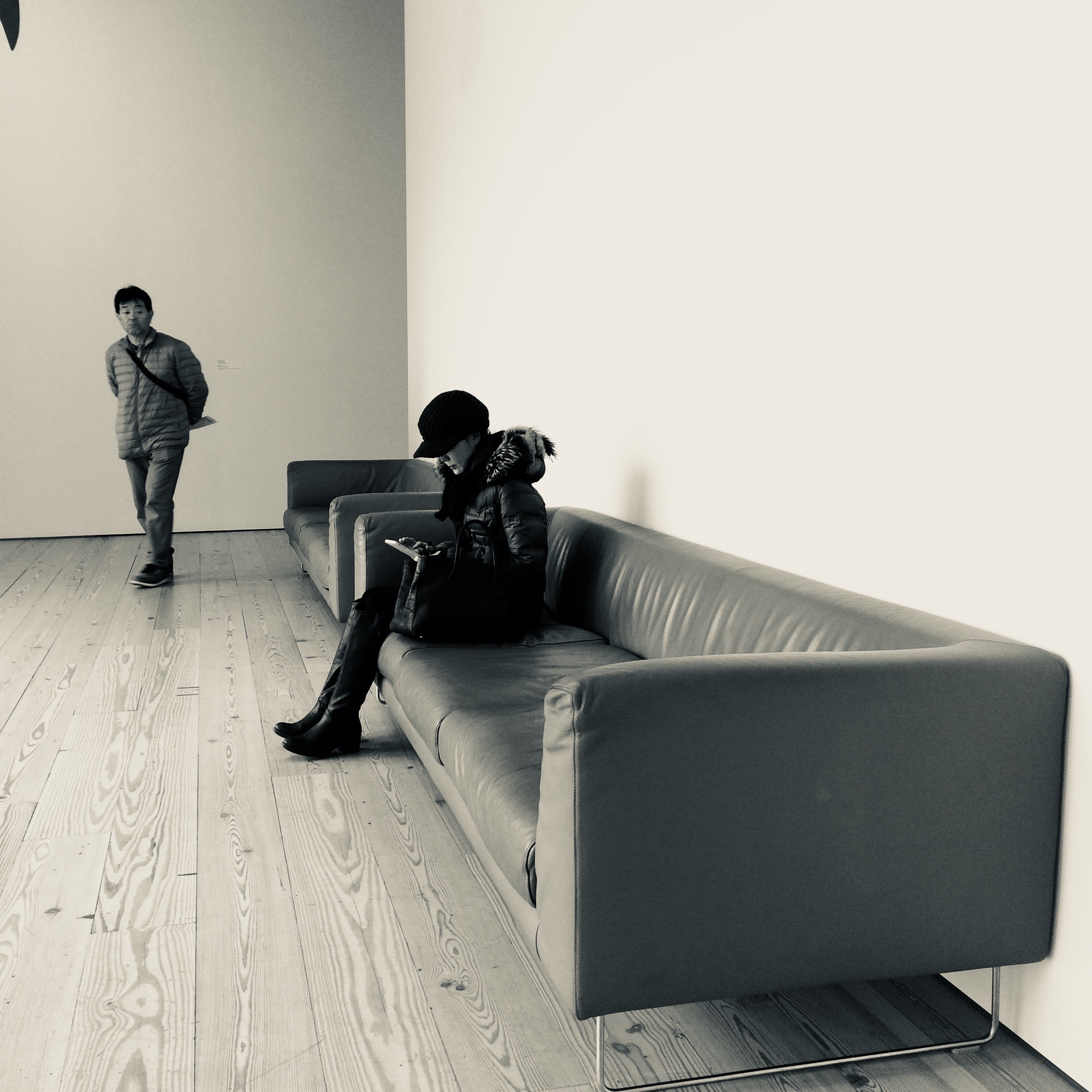 Two people at the Whitney museum, New York